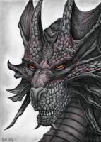 Dragon Drawing by Bajan-Art