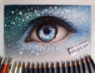 Fantasy eye drawing by Bajan-Art