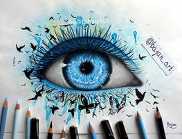 Freedom eye drawing by Bajan-Art