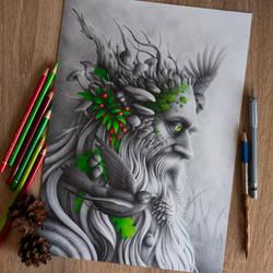 Leshy drawing by Bajan-Art