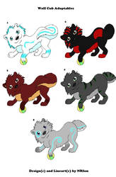 Adoptable wolf cubs by NRfun