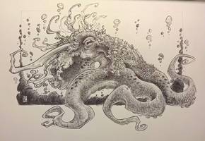 Deer Octopus, Keeper of the Depths by DandyAngelicaVannini