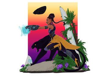Shuri, Black Panther Fanart by DandyAngelicaVannini
