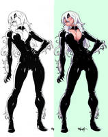 black cat by atombasher