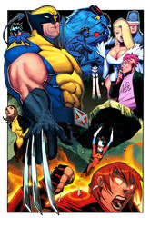 wolverine and the xmen by atombasher