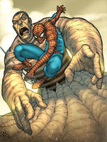 Spider vs Sandman by atombasher