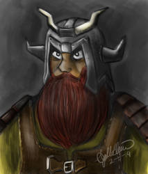 Viking Warrior Dude by Apooyo