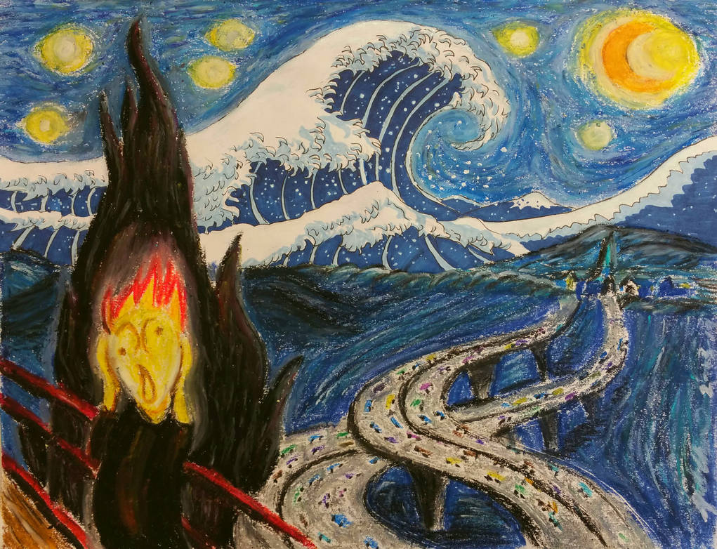 The Scream of Kanagawa Night by Apooyo