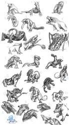 Kaiju sketches by MadlegBadleg
