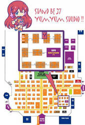 Plan Japan Expo 2013 by Kalahan