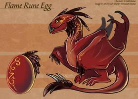 The Flame Rune Egg - Adoptable by Ulario