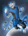 Blue Lantern Rikhard - Commission by Ulario