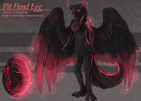 Pit Fiend Egg (Hatched Adoptable) by Ulario