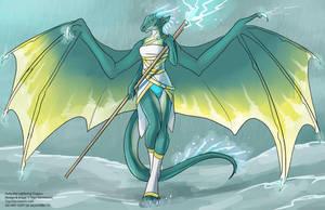 [Character Design]  Avita the Lightning Dragon by Ulario
