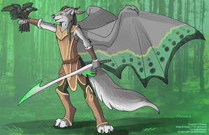 [Blind Character Design] Elven DragonWolf by Ulario