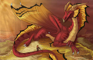 [Fan Art]  Smaug the Terrible by Ulario