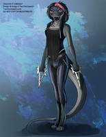 [Character Design Commission] Nikodra by Ulario
