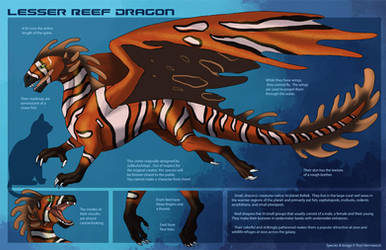 [Personal] Reef Dragon - Species Sheet by Ulario