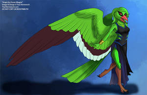 [Character Auction] Angie the Green Magpie by Ulario