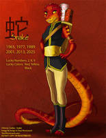 [Character Auction] Chinese Zodiac: Snake by Ulario