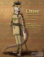 [Character Auction] Native American Zodiac:  Otter by Ulario
