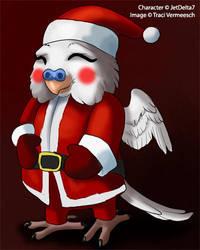 [Gift] Santa Budgie by Ulario