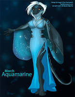 [Anthro Birthstones] March: Aquamarine by Ulario