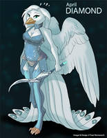[Anthro Birthstones] April: Diamond by Ulario