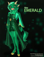 [Anthro Birthstones] May: Emerald by Ulario