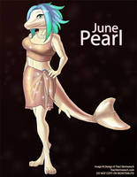 [Anthro Birthstones] June: Pearl by Ulario