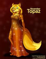 [Anthro Birthstones] November: Topaz by Ulario