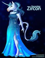 [Anthro Birthstones] December: Zircon by Ulario