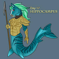 [Mythological May] Day 17 - Hippocampus by Ulario