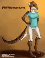 [Paleo Anthros] Pachycephalosaurus by Ulario