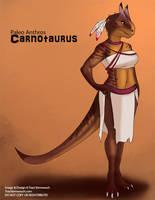 [Paleo Anthros] Carnotaurus by Ulario