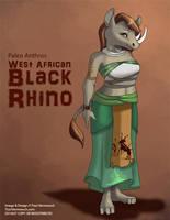[Paleo Anthros] West African Black Rhino by Ulario