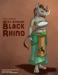 [Paleo Anthros] West African Black Rhino by Ulario