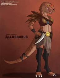 [Paleo Anthros] Allosaurus by Ulario