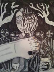 Inktober: Goosebumps #59 The Haunted School by XXIDaWorld