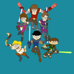 Teen Super Six -  Six Protagonists in Action by NiallNorwood66