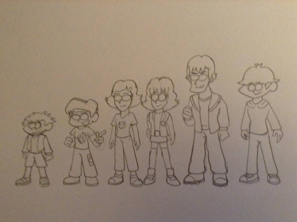 TSS - Main Characters line up ( uncoloured ) by NiallNorwood66