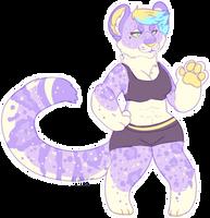 lavender snow leopard ota CLOSED by irlnya