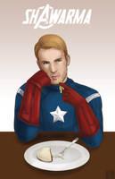 Captain America- Shawarma by Tobiassilverstreak