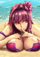 Scathach(bikini) by LotusLee115
