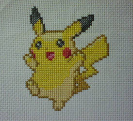 Pikachu Cross-Stitch by saber4734