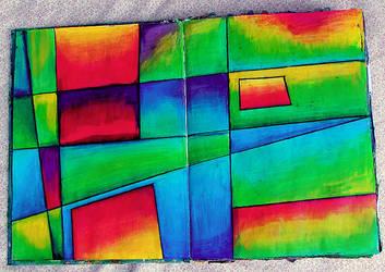 Colorful Squares by krissasaur