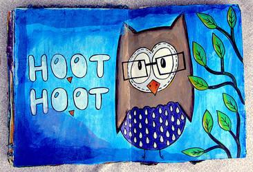 Hoot Hoot by krissasaur
