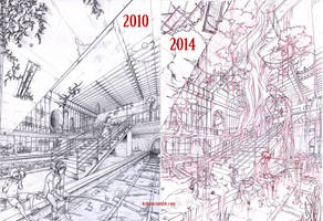 The lost station - before/after by Keidensan