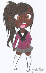 Black Chibi Schoolgirl by rc360