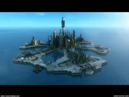 Atlantis City Daytime by Diston